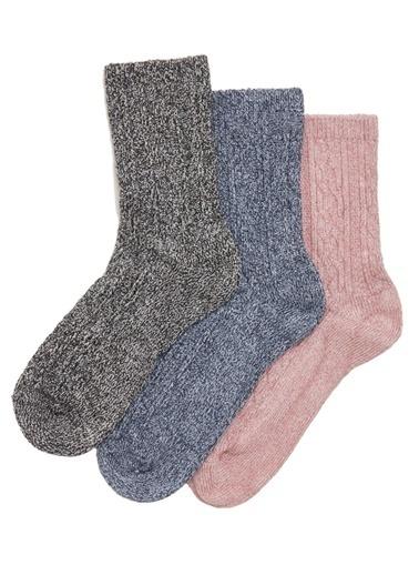 Marks & Spencer 3'lü Sumptuously Soft™ Termal Çorap Seti Pembe